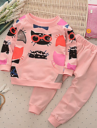 Girls' Others Sets,Cotton All Seasons Long Sleeve Clothing Set