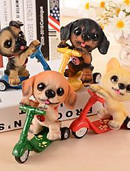 1PC Color Random Skateboard Resin Dog's Active And Playful Dog Resin For Gift Crafts