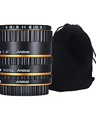 Andoer Colorful Metal TTL Auto Focus AF Macro Extension Tube Ring for Canon EOS EF EF-S 60D 7D 5D II 550D Golden