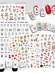 1 Nail Art Sticker  Pattern Accessories Art Deco/Retro 3D Nail Stickers Cartoon 3-D Christmas Sticker DIY Supplies Makeup Cosmetic Nail