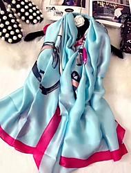 cheap -Women's Silk Rectangle Print