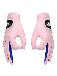 Недорогие -Полный палец Универсальные Пригодно для носки Защитный Гольф Перчатка Хлопок Хлопок Белый Розовый Гольф