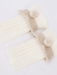 Women's woollen thread foot sleeve protection for warm autumn and winter knit boot