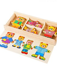 cheap -Building Blocks Jigsaw Puzzle Educational Toy Toys Rectangular Square Bear DIY Unisex 1 Pieces