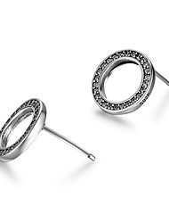Women's Stud Earrings Simple Style Sterling Silver Circle Jewelry For Valentine Going out