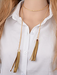 cheap -Women's Pendant Necklace  -  Tassel Elegant Gold Silver Necklace For Daily Casual Evening Party