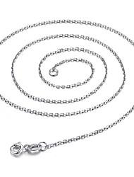 Недорогие -Жен. Классика Классический Ожерелья-цепочки Бижутерия Стерлинговое серебро Ожерелья-цепочки , Повседневные