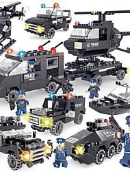cheap -SHIBIAO Building Blocks 359 pcs Vehicles Police Simple New Design DIY Contemporary Classic Classic & Timeless Police car Helicopter Boys' Girls' Toy Gift