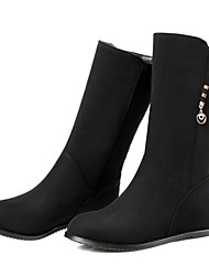 cheap -Women's Shoes Suede Spring Fall Comfort Novelty Fashion Boots Boots Flat Heel Pointed Toe Mid-Calf Boots Rivet For Office & Career Dress