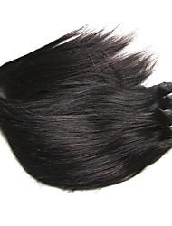 baratos -barato 8a seda brasileira reta virgem remy feixes de cabelo humano tece 2pieces 200g lote natural balck cor sem derramamento sem