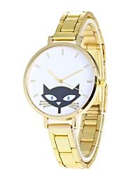 abordables -Mujer Reloj de Pulsera Reloj de Moda Chino Cuarzo Gran venta Aleación Banda Casual Dorado