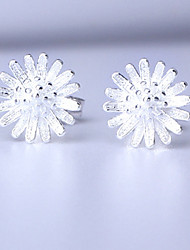 cheap -Women's Sterling Silver Stud Earrings - Cute Style / Fashion Gold / Silver Daisy Earrings For Casual / Office & Career