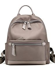 preiswerte -Damen Taschen Nylon Rucksack Reißverschluss für Ganzjährig Schwarz Dunkelblau Grau Purpur
