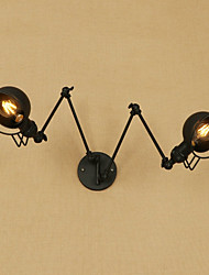 cheap -Vintage Retro Country Swing Arm Lights For Metal Wall Light 110-120V 220-240V 40W