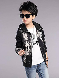 cheap -Boys' Print Jacket & Coat,Polyester Winter Fall Blue Red Gray