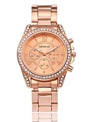 abordables -Hombre Mujer Simulado Diamante Reloj Reloj de Vestir Reloj de Moda Chino Cuarzo Gran venta Aleación Banda Encanto Lujo Casual Elegant