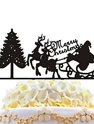 inserções de bolas de acrílico árvore de natal árvore de natal decoração de bolo de natal