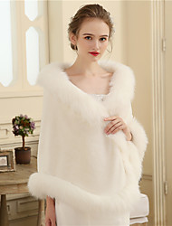 cheap -Faux Fur Wedding Party / Evening Women's Wrap With Fur Shawls