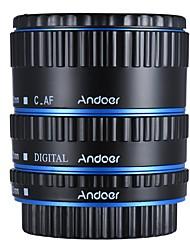 andoer metal colorido ttl auto foco af anel de tubo de extensão macro para canon eos ef ef-s 60d 7d 5d ii 550d azul