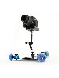 asj slr camera video rail carro mini desktop silencioso polia drift carro de três rodas