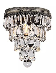 cheap -Flush Mount Ambient Light - Crystal Bulb Included, Rustic / Lodge LED Chic & Modern, 110-120V 220-240V Bulb Included