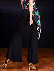 economico -Balli latino-americani Pantaloni Per donna Esibizione Satin elastico 1 pezzo Naturale Pantaloni