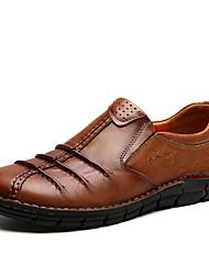 Homme Chaussures Cuir Nappa Printemps Automne Confort Mocassins et Chaussons+D6148 Combinaison Pour Décontracté Soirée & Evénement Brun