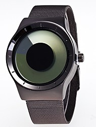 cheap -Men's Women's Quartz Wrist Watch Hot Sale Stainless Steel Band Creative Casual Black