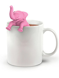 cheap -1PC Tea Infuser Silicone Pink Elephant Shape Cup Loose Leaf Herb Spice Filter Tea Tools