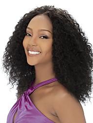 Women Human Hair Lace Wig Full Lace Wigs 130% Density Kinky Curly Wigs Eurasian Medium Brown Dark Brown Black Dark Black Medium Long