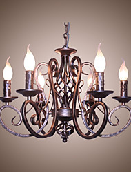 cheap -Dining Room Chandelier Bronze Tint Candle Lamp Decoration Lamps And Lanterns