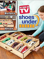 12 Grids Unisex Oxford Cloth Daily Use Shoes Storage Box Closet