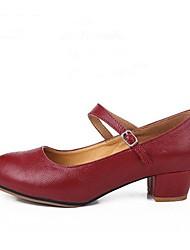 """preiswerte -Damen Modern Leder Absätze Draussen Maßgefertigter Absatz Rot 1 """"- 1 3/4"""" 2 """"- 2 3/4"""" Maßfertigung"""