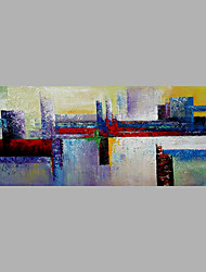 cheap -Hand-Painted Abstract Vertical, Abstract Canvas Oil Painting Home Decoration One Panel
