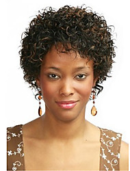 cheap -Synthetic Wig Curly African American Wig Highlighted/Balayage Hair Brown Women's Capless Natural Wigs Short Synthetic Hair