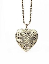 cheap -Women's Locket Heart Shape Love Pendant Necklace Alloy Pendant Necklace Party Halloween