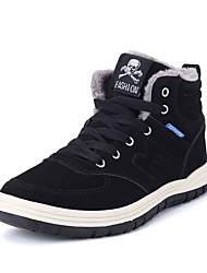 Men's Shoes Suede Fall Winter Comfort Bootie Boots Booties/Ankle Boots Lace-up For Casual Outdoor Green Dark Blue Black