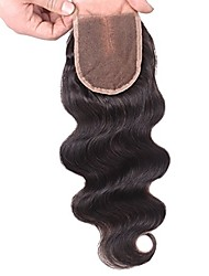 Brazilian Body Wave Top Closure Unprocessed Human Hair Lace Closure Bleached Knots with Baby Hair Middle Part