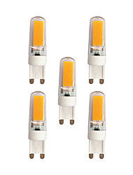 abordables -5pcs 3W 240lm G9 LED à Double Broches T 2 Perles LED COB Blanc Chaud Blanc 220-240V