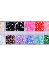 abordables -1 Manucure Dé oration strass Perles Maquillage cosmétique Nail Art Design