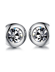 cheap -Men's AAA Cubic Zirconia Stud Earrings - Fashion / Rock Silver Earrings For Daily / Casual
