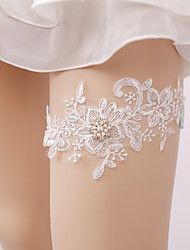 cheap -Lace Wedding Garter with Imitation Pearl Wedding AccessoriesClassic Elegant Style