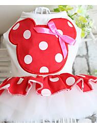 abordables -Chien Robe Vêtements pour Chien Princesse Fuchsia / Rouge Tissu Costume Pour les animaux domestiques Homme / Femme Décontracté / Quotidien