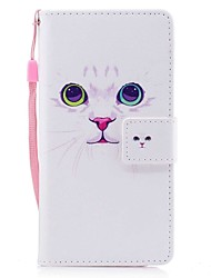Case for Samsung Galaxy A5(2017) A3(2017) Cat Pattern Full Body Case Hard PU Leather Case with Hand Strap