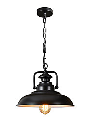 1-Lights Northern Europe vintage Industry Black Metal pendant lights Dining Room Living Room Kitchen light Fixture
