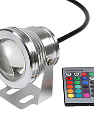 cheap -1PCS HKV® RGB 10W 12V LED Underwater Light 16 Colors 24Keys RGB Controller 1000LM Waterproof IP68 Fountain Pool Lamp Lighting