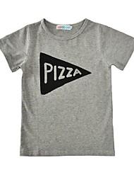 preiswerte -Jungen T-Shirt Baumwolle Sommer Kurzarm Hellgrau