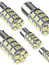 4pcs 1156 BA15S P21W 24 SMD 5050 LED Red White Color Car Tail Led Bulb Light Brake Lights DC12V