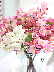 Artificial Plants Home Decoration Silk Cherry Blossoms Small Artificial Bouquet Wedding 1 Branch