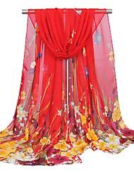 abordables -Femme Mousseline de soie Rectangle Jacquard